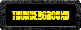 Top of cartridge artwork for Thunderground on the Atari 2600.