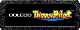Top of cartridge artwork for Time Pilot on the Atari 2600.