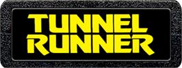 Top of cartridge artwork for Tunnel Runner on the Atari 2600.