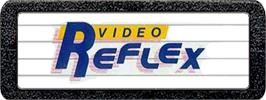 Top of cartridge artwork for Video Reflex on the Atari 2600.