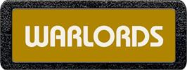 Top of cartridge artwork for Warlords on the Atari 2600.