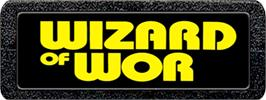 Top of cartridge artwork for Wizard of Wor on the Atari 2600.