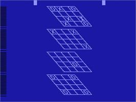 In game image of 3-D Tic-Tac-Toe on the Atari 2600.
