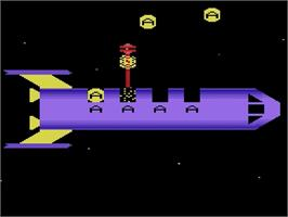 In game image of Alpha Beam with Ernie on the Atari 2600.