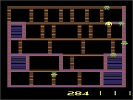 In game image of Amidar on the Atari 2600.