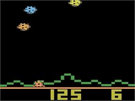 In game image of Astrosmash on the Atari 2600.