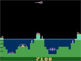 In game image of Atlantis on the Atari 2600.