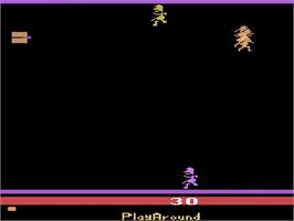 In game image of Bachelorette Party/Burning Desire on the Atari 2600.