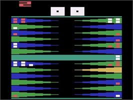 In game image of Backgammon on the Atari 2600.