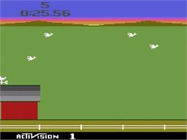 In game image of Barnstorming on the Atari 2600.