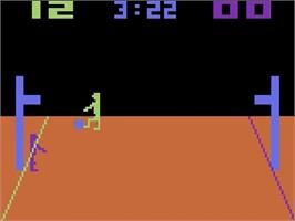 In game image of Basketball on the Atari 2600.