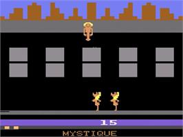 In game image of Beat 'Em & Eat 'Em/Lady in Wading on the Atari 2600.