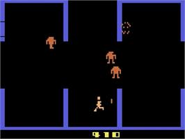 In game image of Berzerk on the Atari 2600.