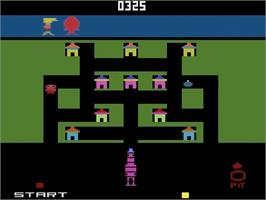 In game image of Blue Print on the Atari 2600.