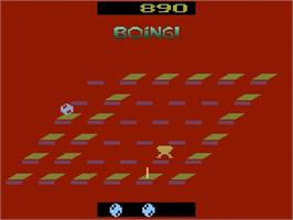 In game image of Boing! on the Atari 2600.