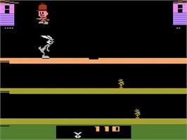 In game image of Bugs Bunny on the Atari 2600.