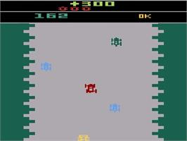 In game image of Bump 'N' Jump on the Atari 2600.