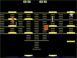 In game image of BurgerTime on the Atari 2600.