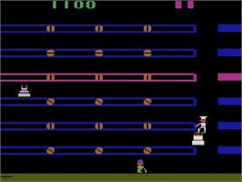 In game image of Cakewalk on the Atari 2600.