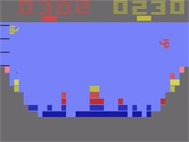 In game image of Canyon Bomber on the Atari 2600.