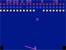 In game image of Circus Atari on the Atari 2600.