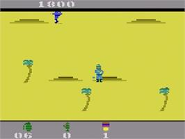 In game image of Commando on the Atari 2600.