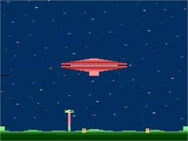 In game image of Cosmic Ark on the Atari 2600.