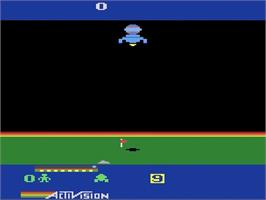In game image of Cosmic Commuter on the Atari 2600.