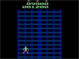 In game image of Crazy Climber on the Atari 2600.