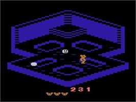 In game image of Crystal Castles on the Atari 2600.