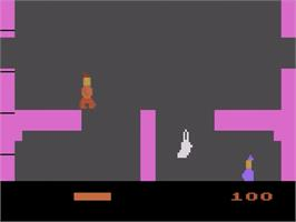 In game image of Dark Chambers on the Atari 2600.