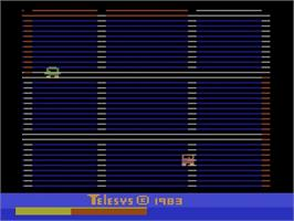 In game image of Demolition Herby on the Atari 2600.