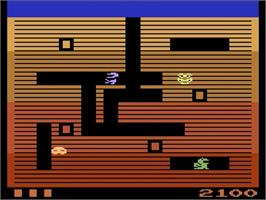 In game image of Dig Dug on the Atari 2600.
