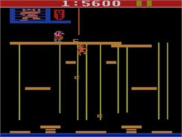 In game image of Donkey Kong Junior on the Atari 2600.