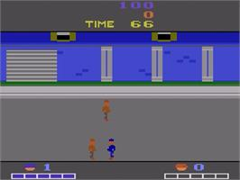 In game image of Double Dragon on the Atari 2600.