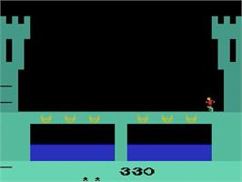 In game image of Dragonfire on the Atari 2600.