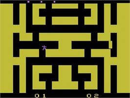 In game image of Entombed on the Atari 2600.