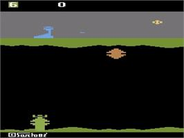 In game image of Exocet on the Atari 2600.