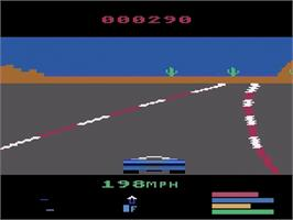 In game image of Fatal Run on the Atari 2600.