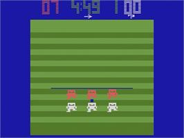 In game image of Football on the Atari 2600.