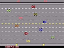 In game image of Freeway on the Atari 2600.