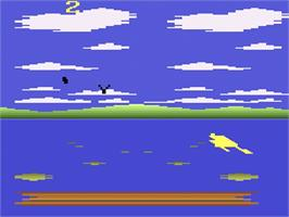 In game image of Frog Bog on the Atari 2600.