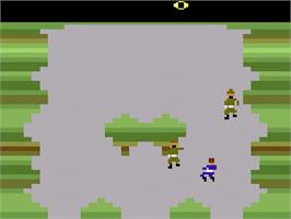 In game image of Front Line on the Atari 2600.