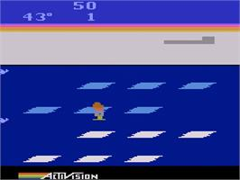 In game image of Frostbite on the Atari 2600.