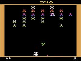 In game image of Galaxian on the Atari 2600.