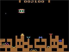 In game image of Gamma-Attack on the Atari 2600.