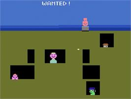 In game image of Gangster Alley on the Atari 2600.