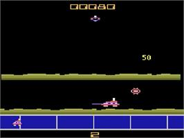 In game image of Gas Hog on the Atari 2600.