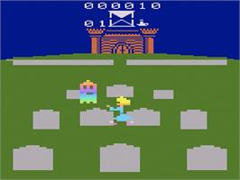 In game image of Ghost Manor on the Atari 2600.
