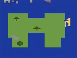 In game image of Golf on the Atari 2600.